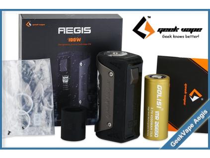geekvape aegis 100w tc gun metal baterie