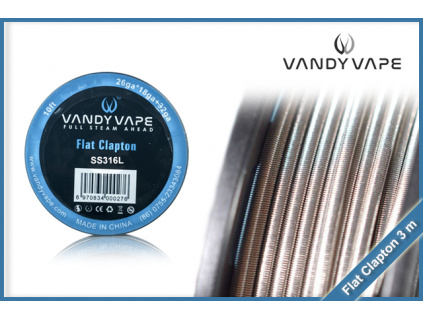 vandy vape flat clapton SS316L 3m