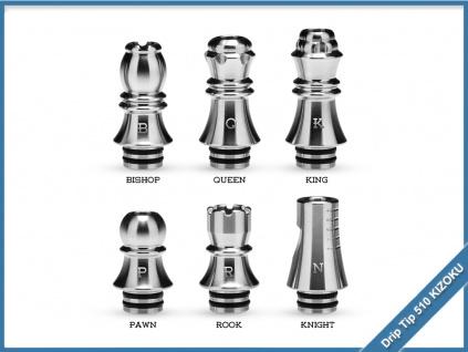 drip tip 510 kizoku silver