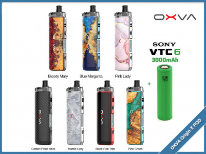 oxva origin x pod baterie