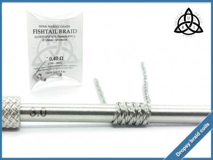 3 loop Fishtail braid 12 040