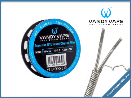 vandy vape superfine mtl fused clapton ni80 3m