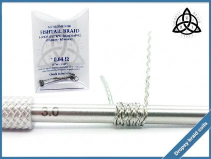 3 loop Fishtail braid 12 064 ni80