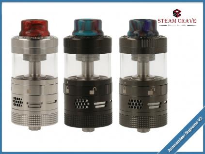 Atomizer Steam Crave Aromamizer Supreme V3 Advanced Kit RDTA 25 mm