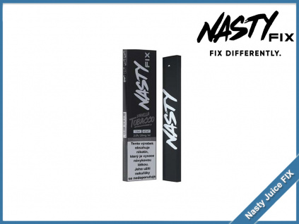 jednorazova elektronicka cigareta nasty juice fix vanilla tobacco