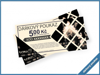 voucher darkovy poukaz 500