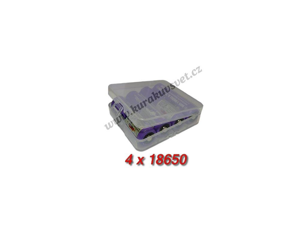 Pouzdro na baterie 4x18650