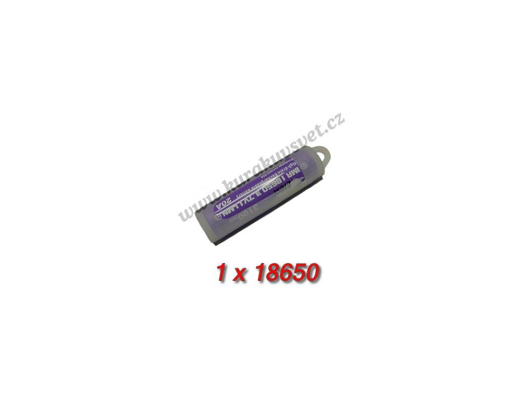 Pouzdro na baterii 18650 silikonové čiré