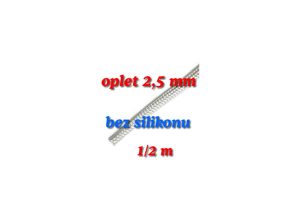 Sklokeramický oplet 2,5 mm