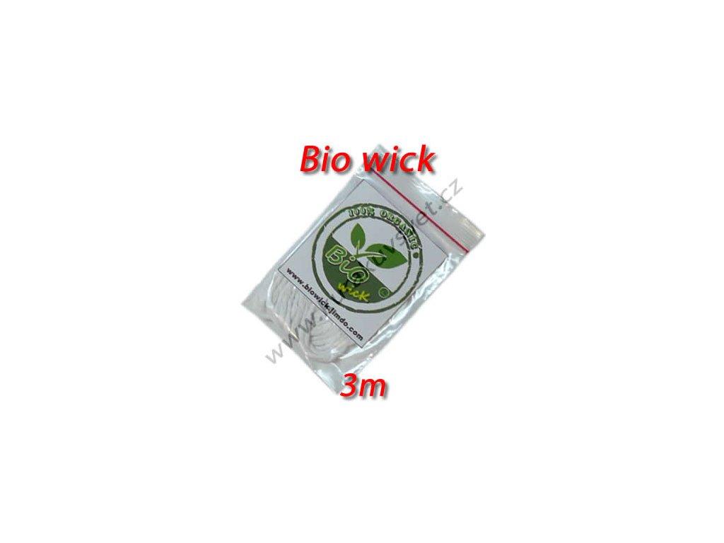 BIO WICK 100% organická bavlna 3mm 3m (vata)
