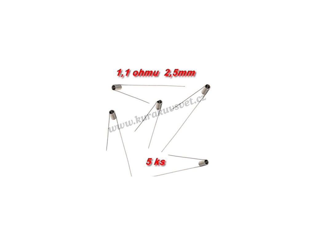 5ks spirálky 1,1ohmu 2,5mm