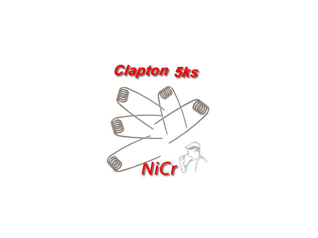 5ks Clapton spirálky NiCr 0.4mmx0.2mm 0,55Ω