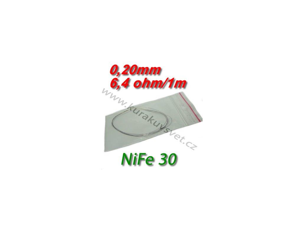 Odporový drát NiFe30 0,20mm 6,4ohmu