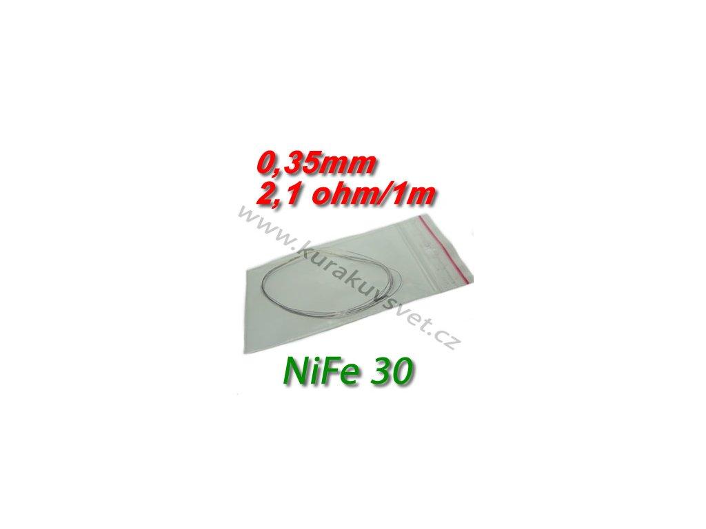 Odporový drát NiFe30 0,35mm 2,1ohmu