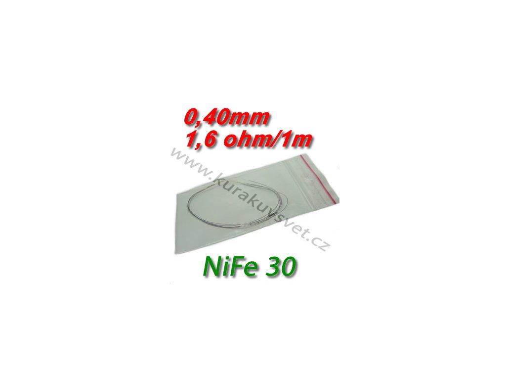 Odporový drát NiFe30 0,40mm 1,6ohmu