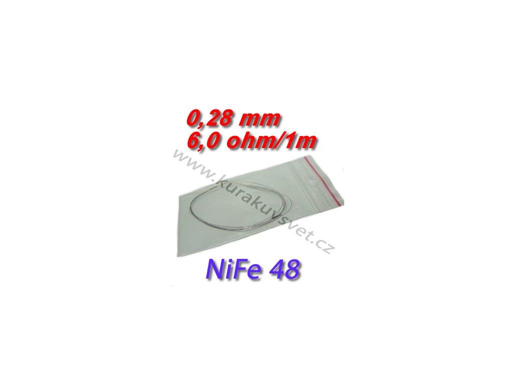 0,28mm odporový drát NiFe48 6,0ohmu