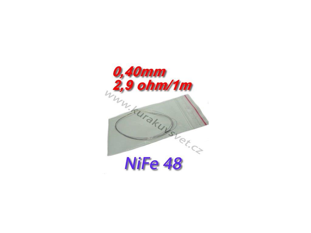 Odporový drát NiFe48 0,40mm 2,9ohmu