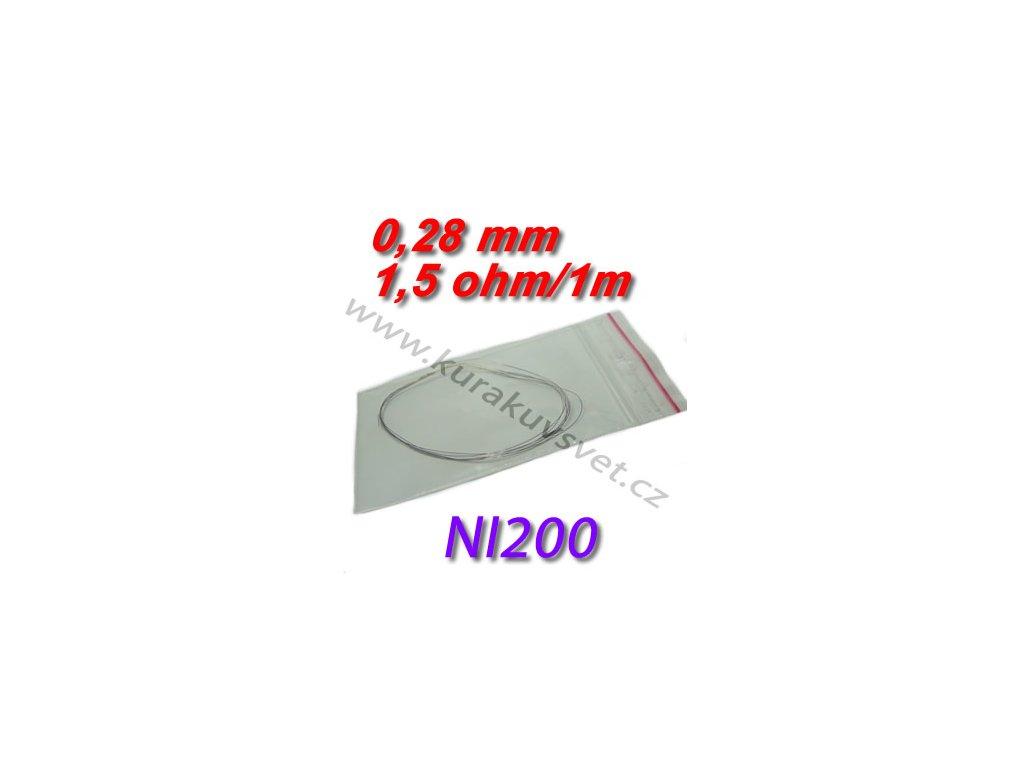4m Odporový drát NI200 0,28mm 1,5ohmu