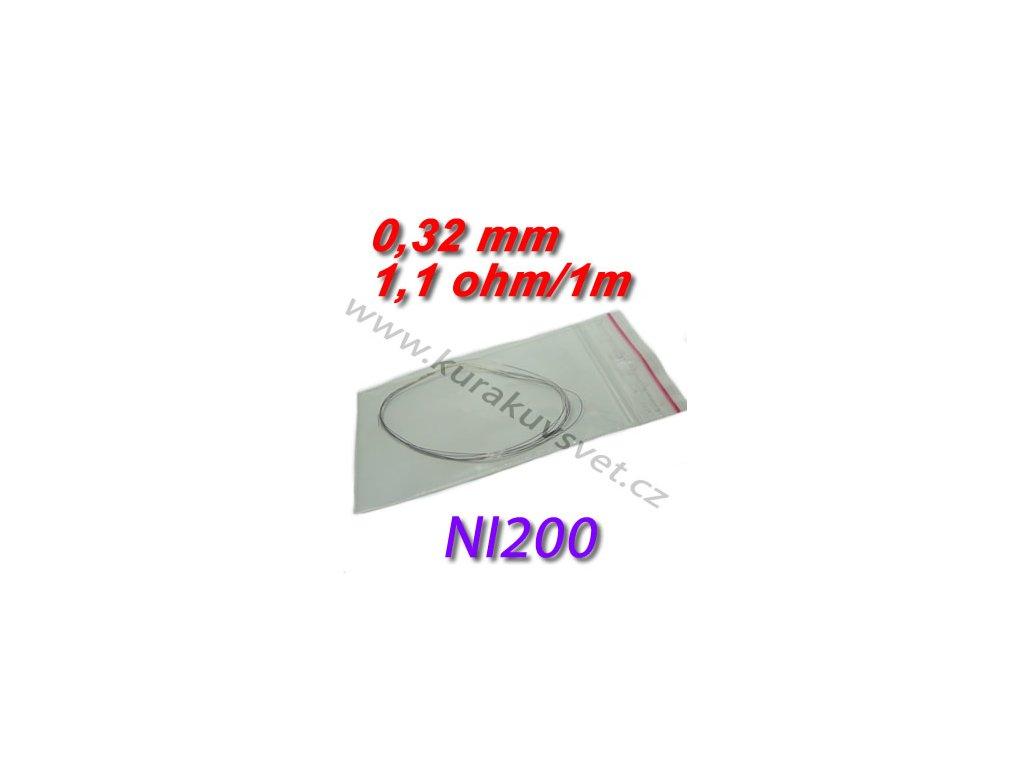 4m Odporový drát NI200 0,32mm 1,1ohmu