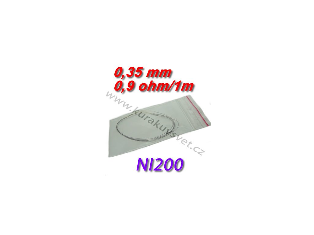 4m Odporový drát NI200 0,35mm 0,9ohmu