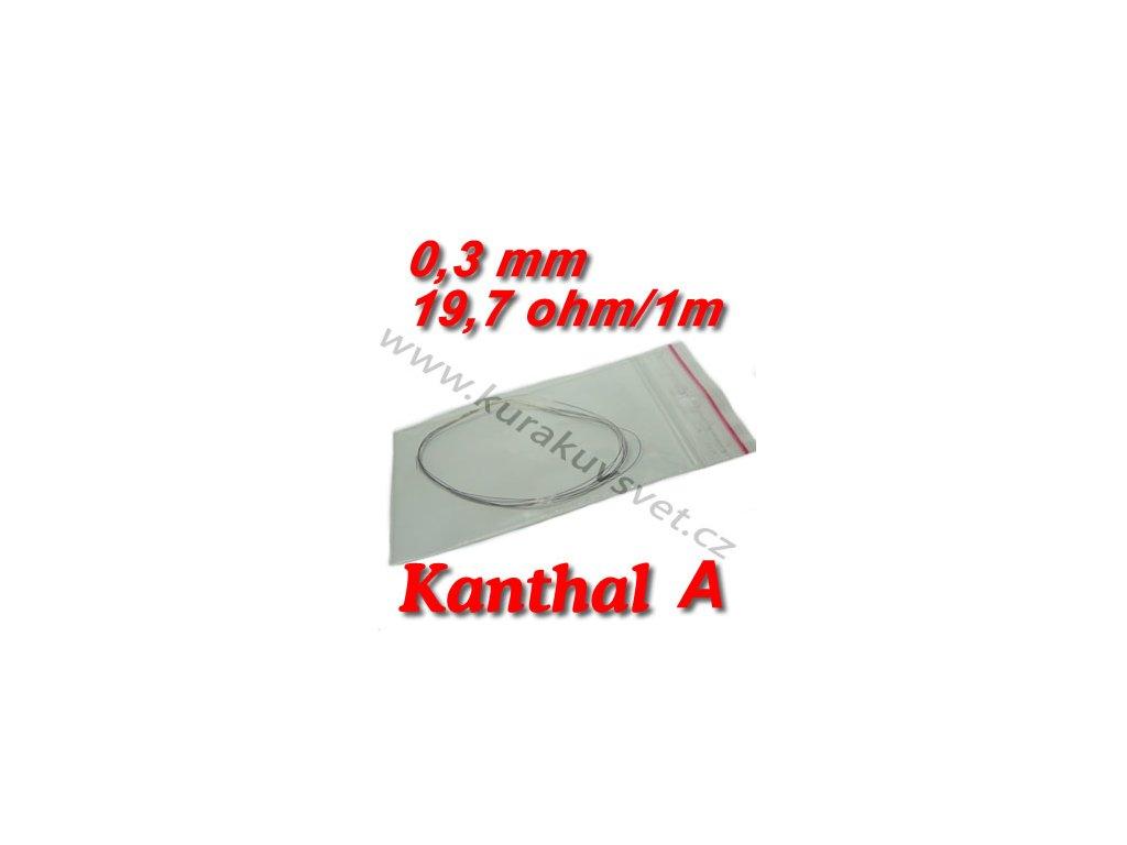 Odporový drát Kanthal A 0,30mm 19,7ohmu