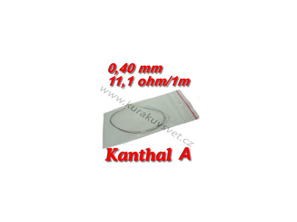 Odporový drát Kanthal A 0,40mm 11,1ohmu