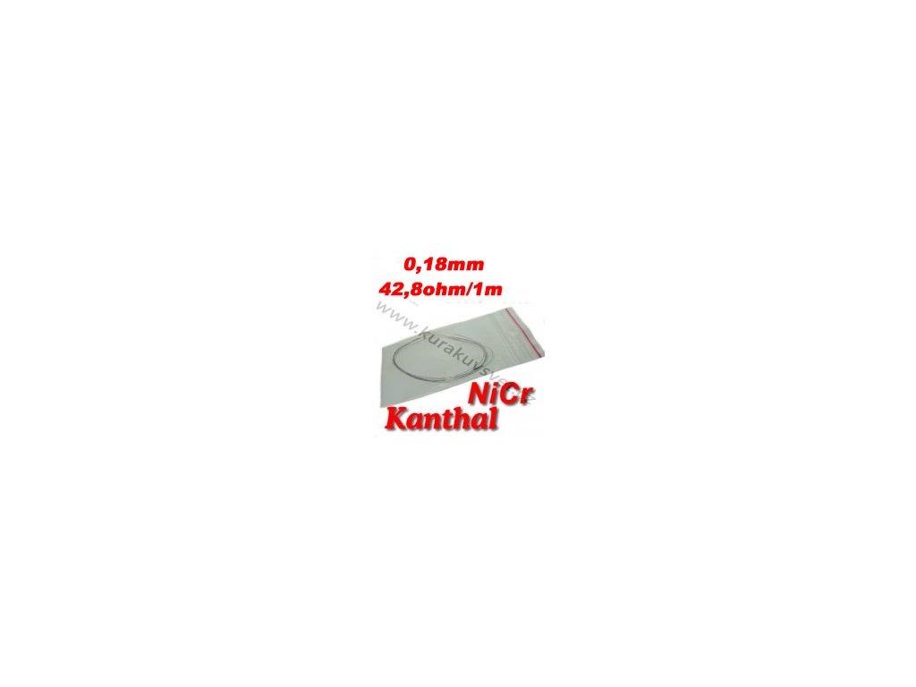Odporový drát Kanthal NiCr 0,18mm 42,8ohmu