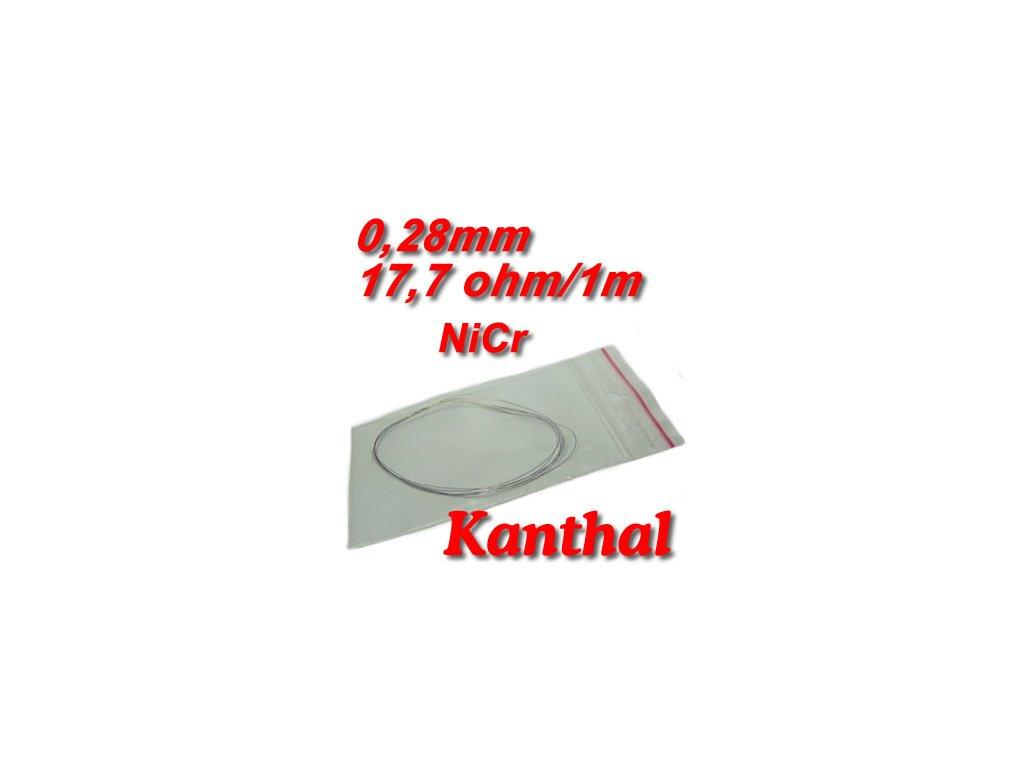 0,28mm odporový drát Kanthal NiCr 17,7ohmu