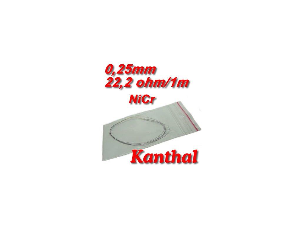 Odporový drát Kanthal NiCr 0,25mm 22,2ohmu