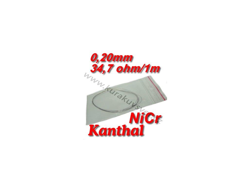 0,20mm odporový drát Kanthal NiCr 34,7ohmu