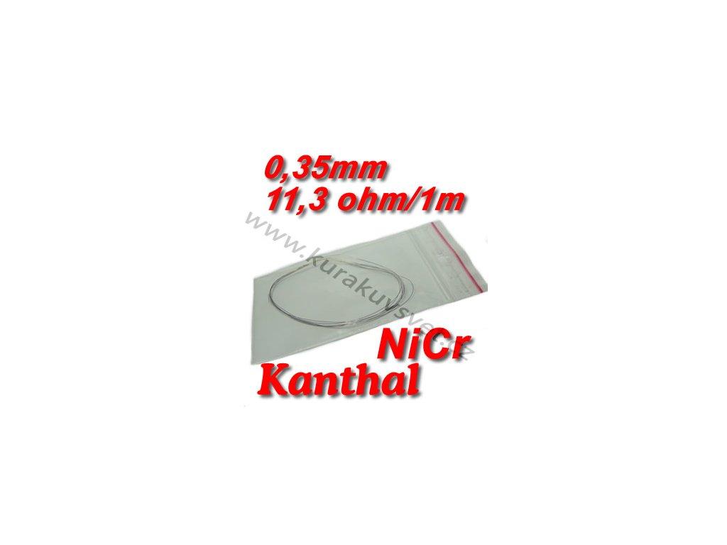 Odporový drát Kanthal NiCr 0,35mm 11,3ohmu