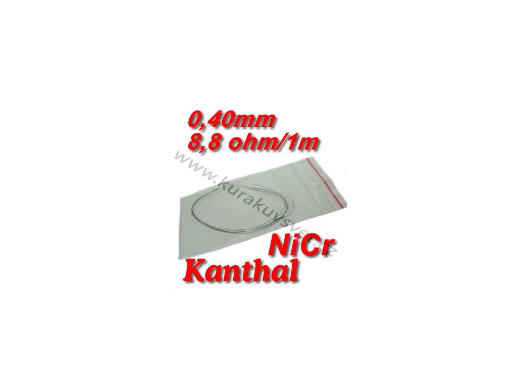 Odporový drát Kanthal NiCr 0,40mm 8,8ohmu