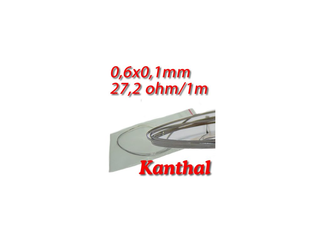 Odporový drát Kanthal D 0,6x0,1mm 27,2ohmu, Plochý