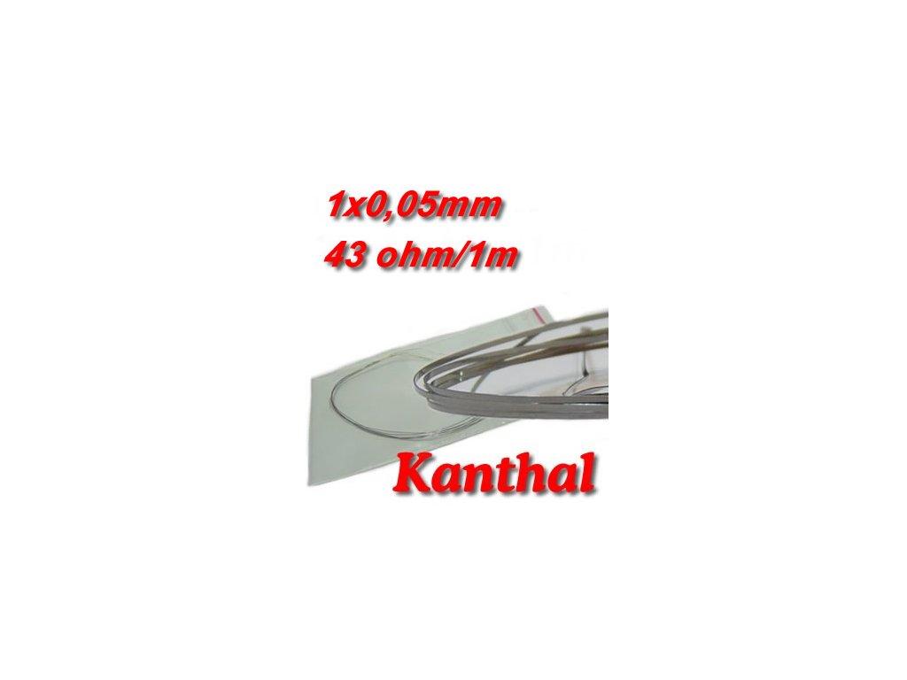 Odporový drát Kanthal 1x0,05mm 43ohmu