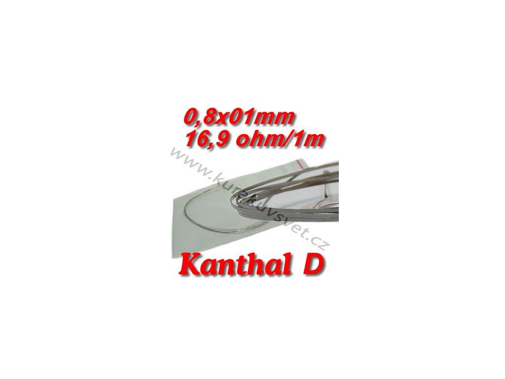 Odporový drát Kanthal D 0,8x0,1mm 16,9ohmu, Plochý