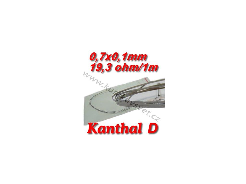 Odporový drát Kanthal D 0,7x0,1mm 19,3ohmu, Plochý