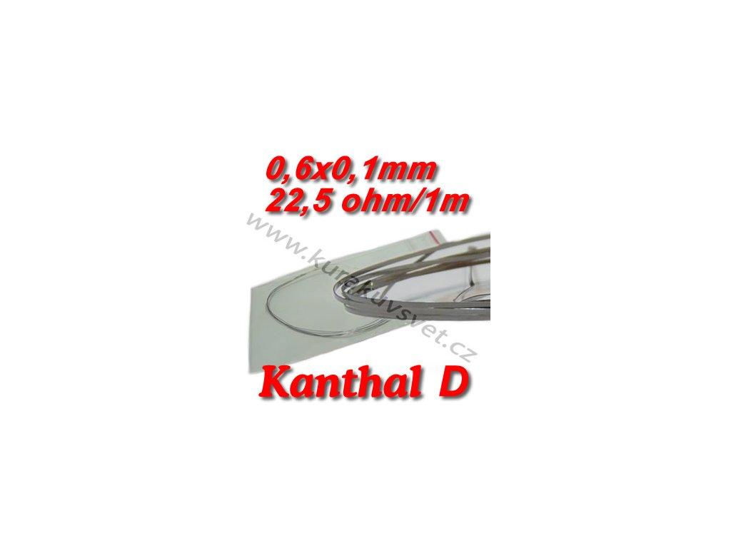 Odporový drát Kanthal D 0,6x0,1mm 22,5ohmu, Plochý
