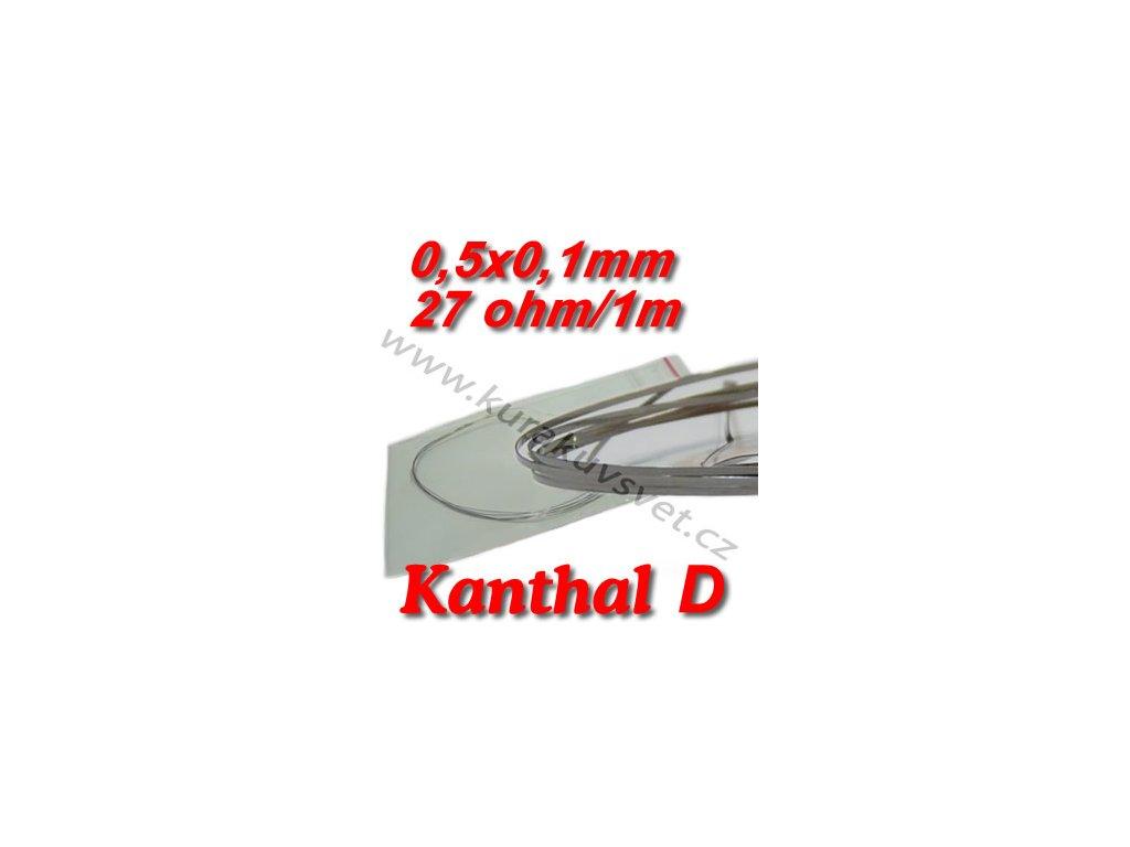 Odporový drát Kanthal D 0,5x0,1mm 27ohmu