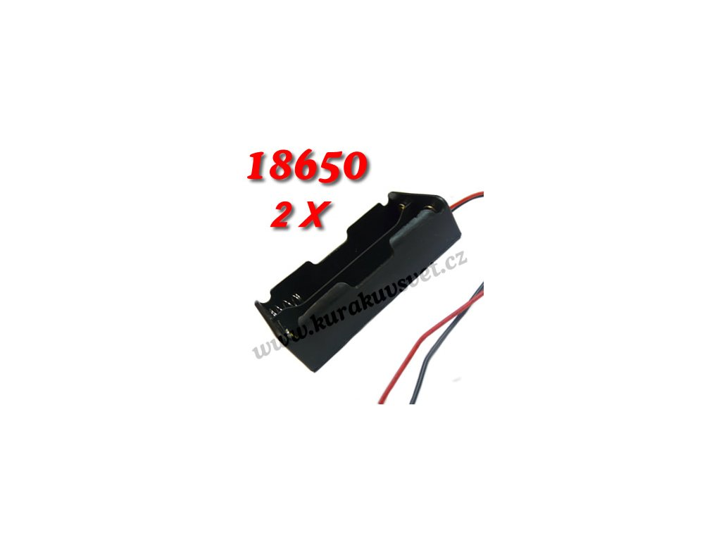 Bateriový box, držák 18650 2x