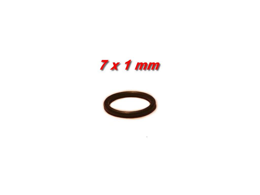 """5 ks """"O"""" kroužek 7x1mm"""
