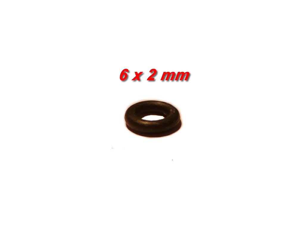 """5 ks """"O"""" kroužek 6x2mm"""