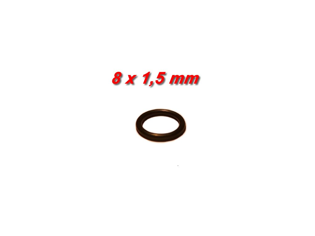 """5 ks """"O"""" kroužek 8x1,5mm"""