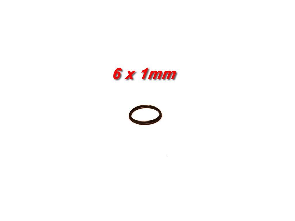"""5 ks """"O"""" kroužek 6x1mm"""