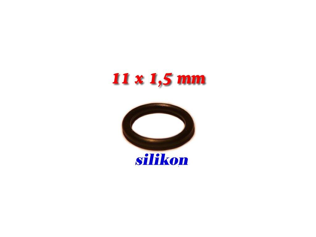 """5 ks """"O"""" kroužek 11x1,5mm Silikon"""