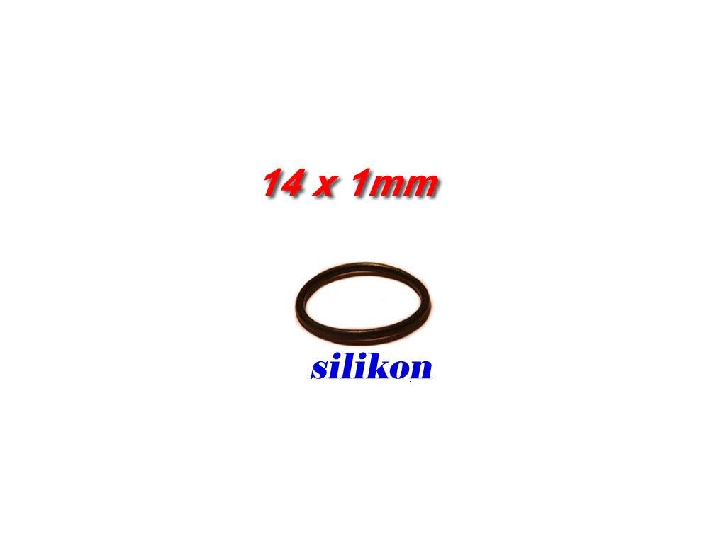 """5 ks """"O"""" kroužek 14x1mm Silikon"""