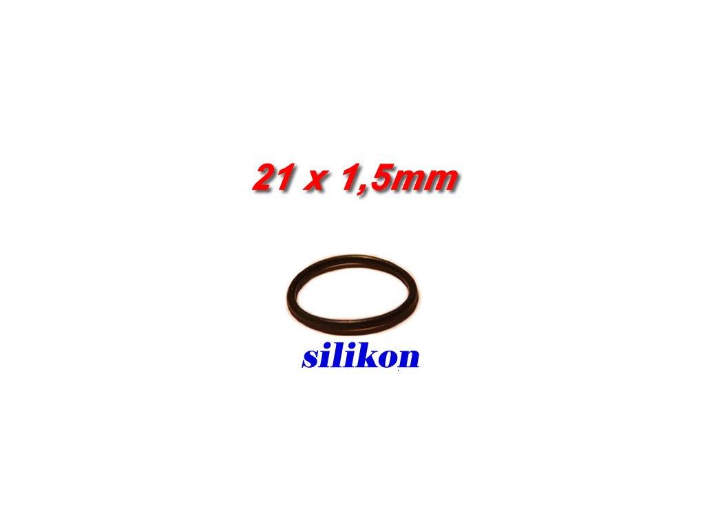 """5 ks """"O"""" kroužek 21x1,5mm Silikon"""