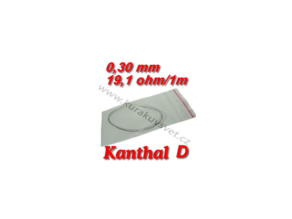 4m 0,30mm odporový drát Kanthal D 19,1ohmu