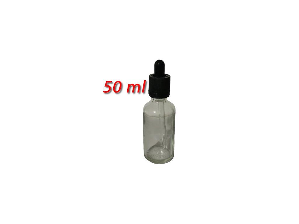 50ml skleněná lahvička s kapátkem a pojistkou