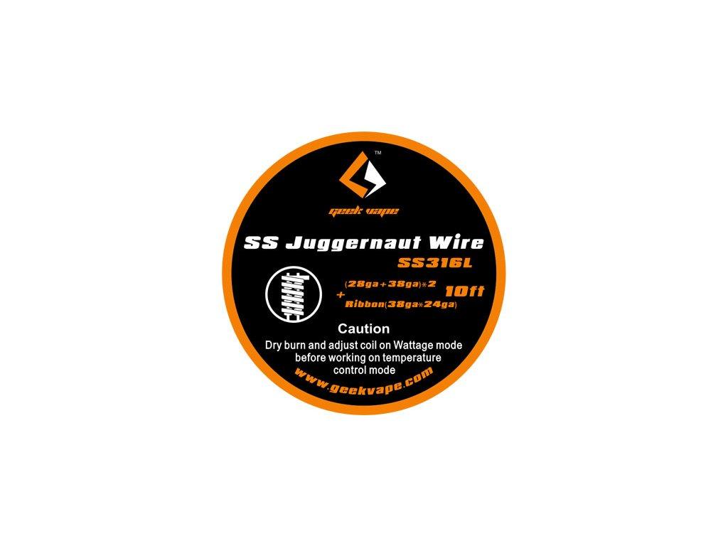GeekVape Juggernaut Wire SS316L - 3m