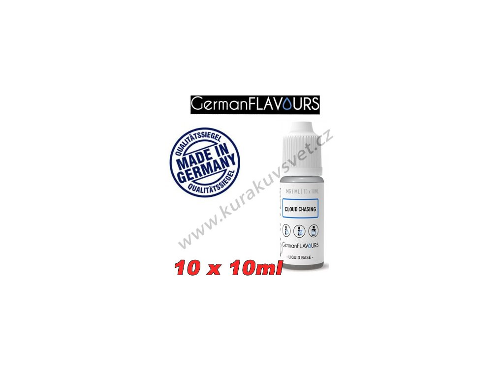 Báze Cloud Chasing GermanFlavours 18mg 100ml/10X10ml